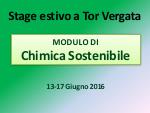 Chimica Sostenibile - Stage Estivo 2016 - Copertina