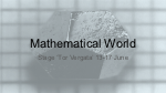 Mathematical World - Stage Estivo 2016 - Copertina