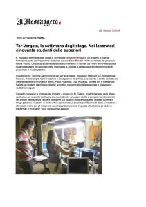 Il Messaggero articolo Stage 18 giugno 2014