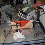 Microscopio ottico con movimentazioni micrometriche per inserzione luce in fibre ottiche